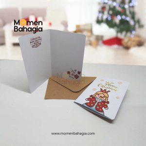 Kartu Natal SnowGirl