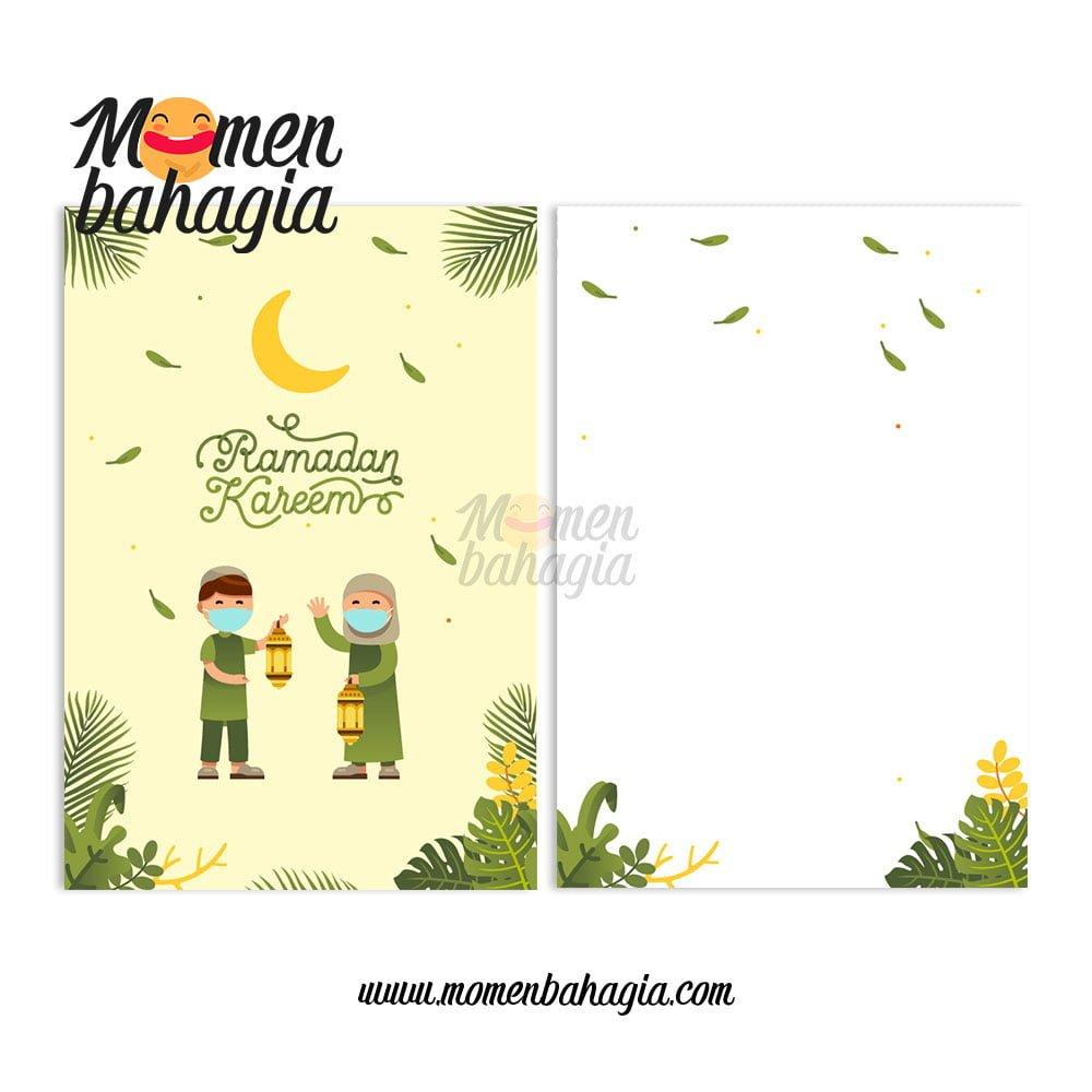 Kartu ucapan puasa ramadhan Marhaban ya Ramadhan